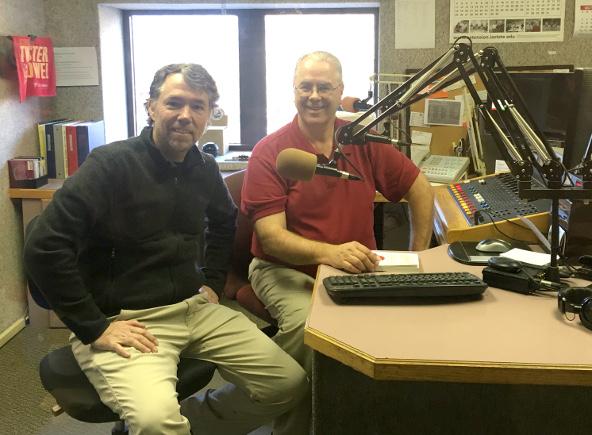Sean at Boone Radio Station